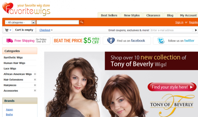 Google Shopping Feed for Favorite Wigs